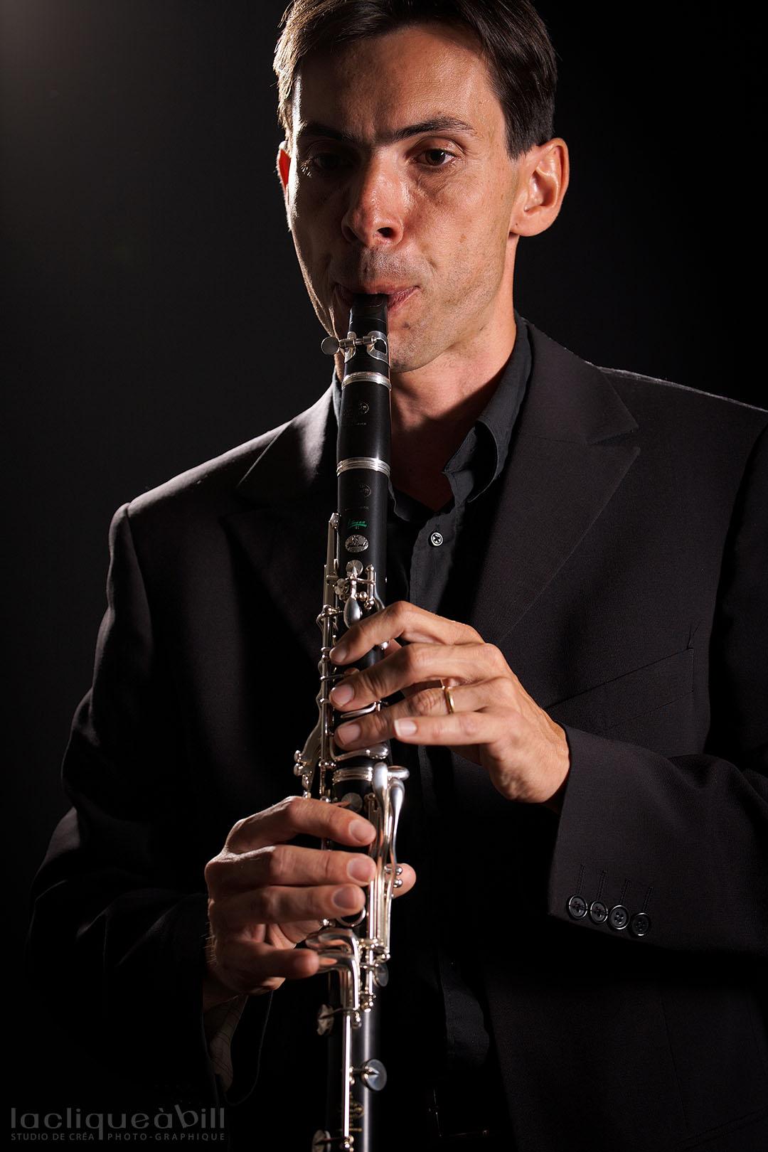 Daniel Chabert à la clarinette