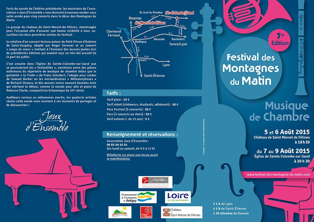 7e édition du festival de chambre des Montagnes du Matin plaquette recto