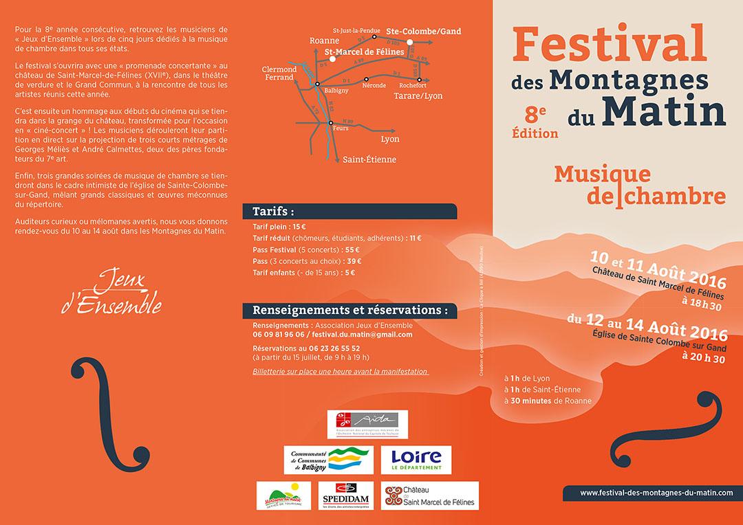 8e édition du festival de chambre des Montagnes du Matin par Jeux d'ensemble