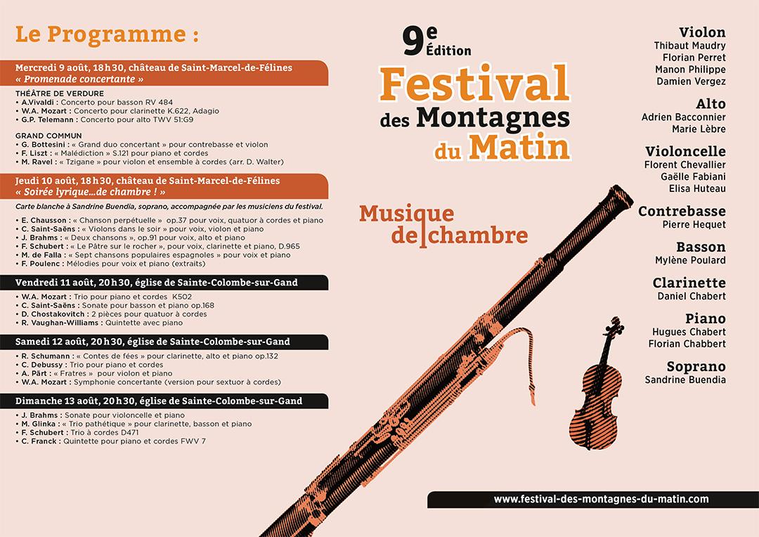 Programme 2017 du festival des Montagnes du Matin