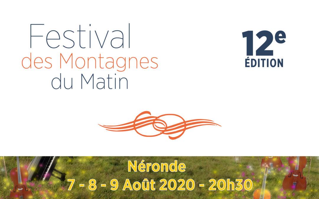 Le festival des Montagnes du Matin 2020 est maintenu !